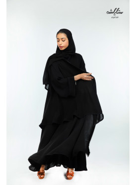 Plain Kuwaiti abaya of two layers