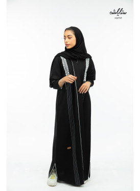 Special wrap model black abaya
