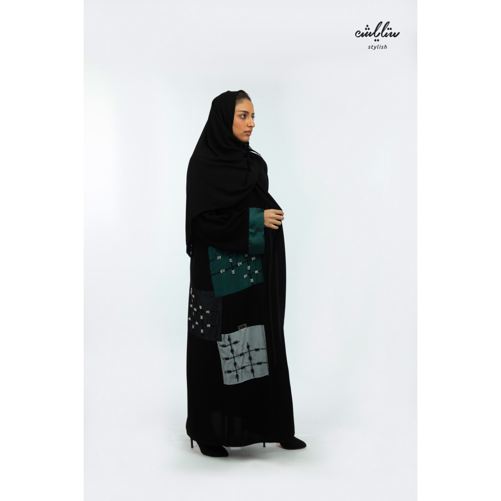 Royal abaya wrapped in black color