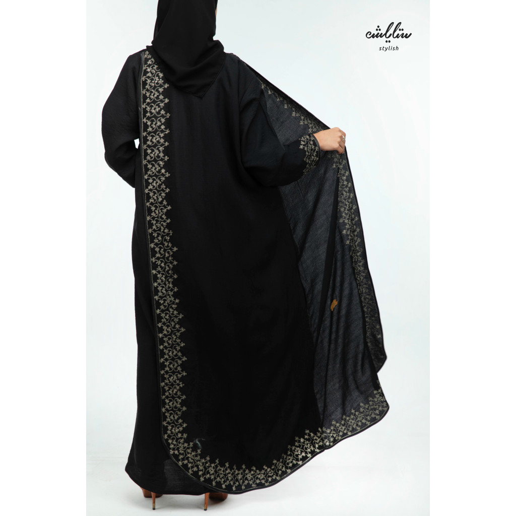 Abaya Linen Bahraini wrap decorated with embroidery
