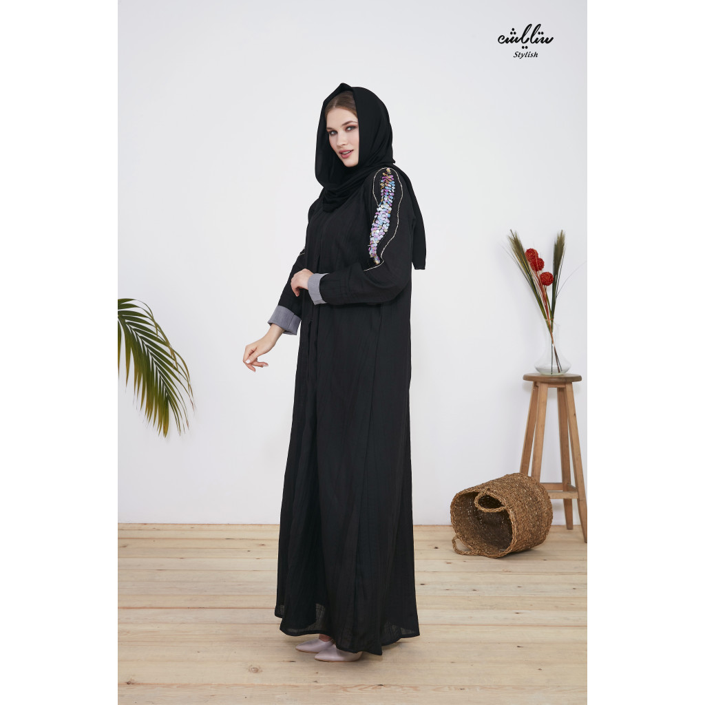 Abaya Linen with pleated