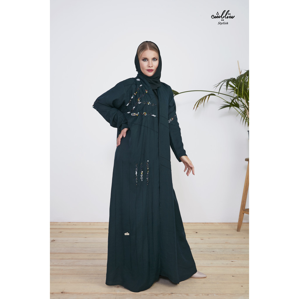 Classic abaya  with fine embroidery