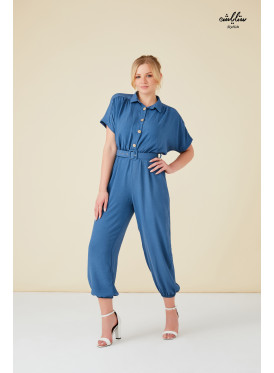 Buttons &belt Detail cute Jumpsuit