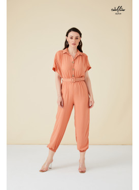Buttons &belt Detail  Jumpsuit