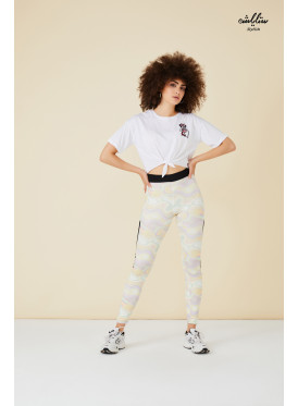 waist tie cute white Tee with prints