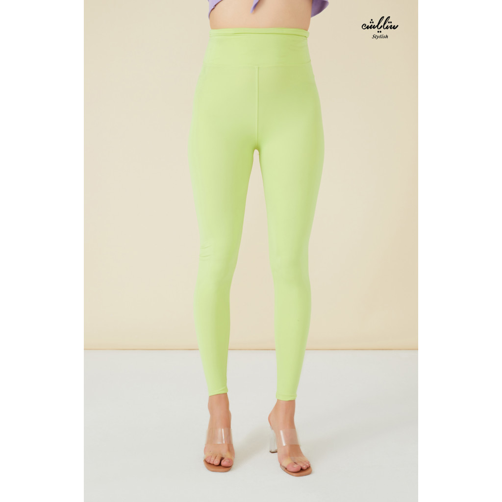 Solid Textured High waist Leggings