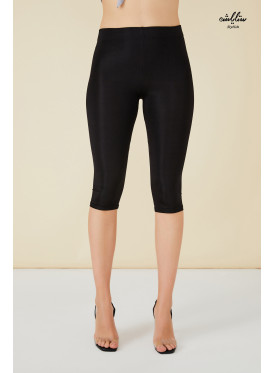 Black sporty midi leggings.