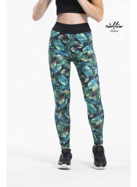 Tropical Solid Textured Leggings