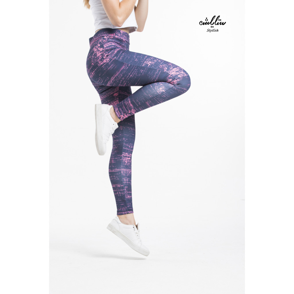 Tie Dye Solid Textured Leggings