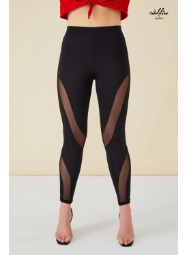 Mesh Insert High waist Leggings