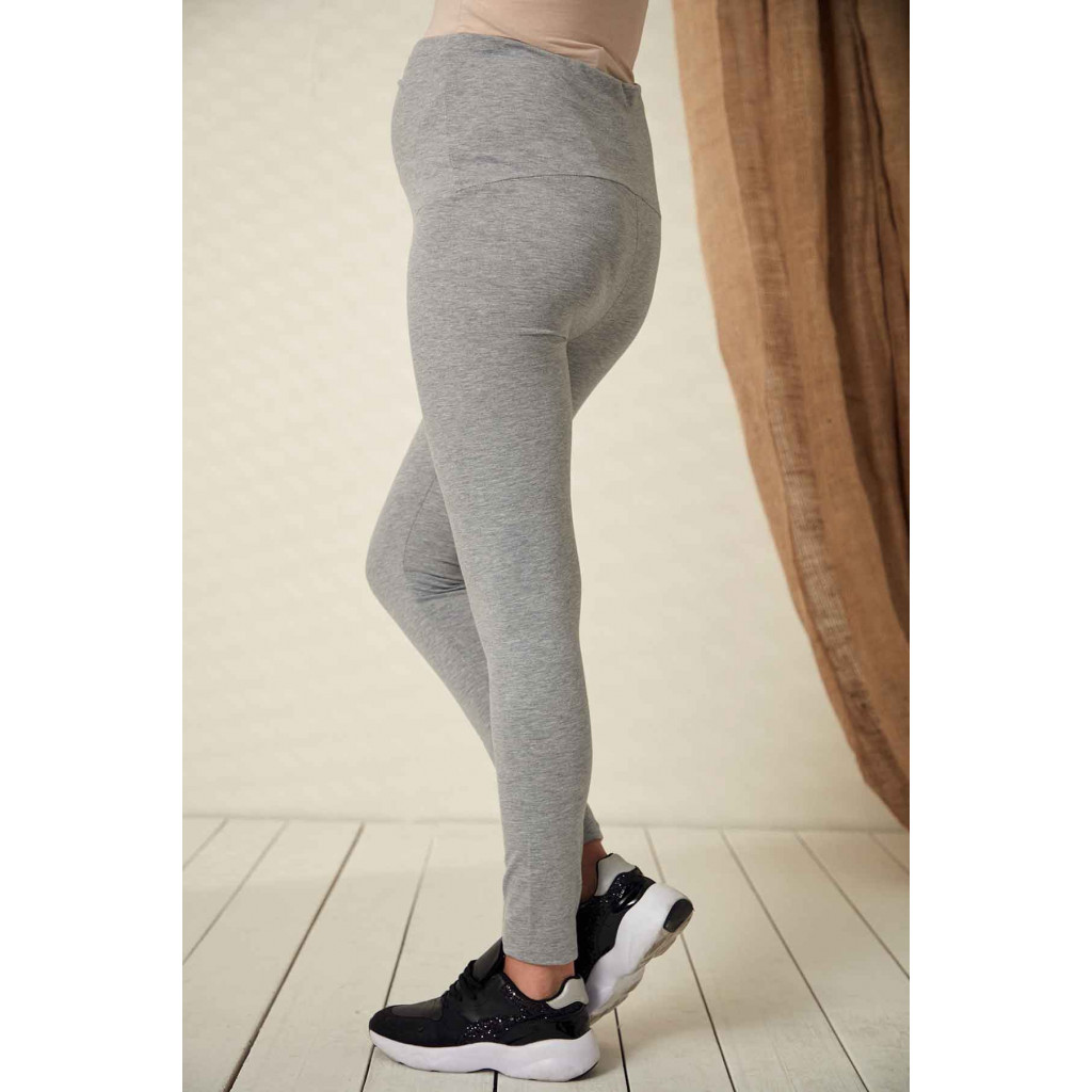 Comfortable maternity pants in gray