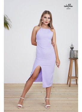 Ruched Side Split Thigh  Cami Dress