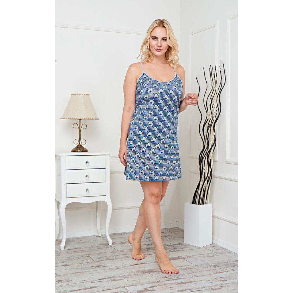 Short soft home dress decorated with beautiful colorful prints