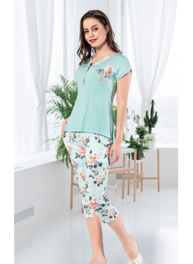 Floral Prints Soft Green Pajama   for a Comfortable Feel and elegant look