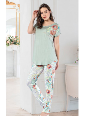 Floral Print Pant and Soft Top comfortable loungewear.
