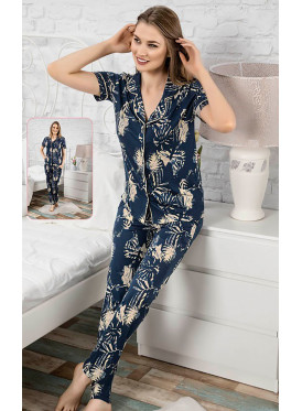 Tropical Print Cotton Pajama set