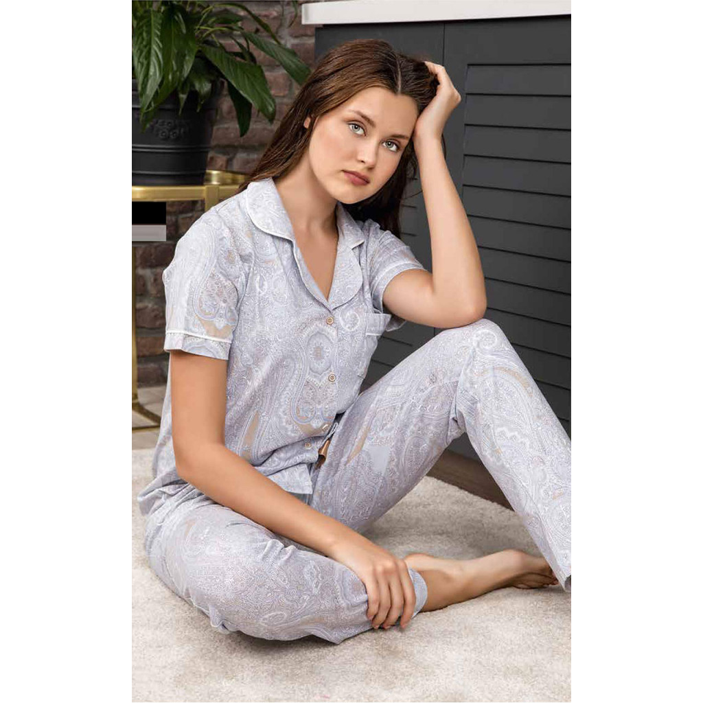 Contrast Binding Button-up Cotton