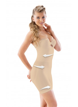 Beige Corset, With High Waist, And A Nice Material, To Tighten The Points Of The Arrows