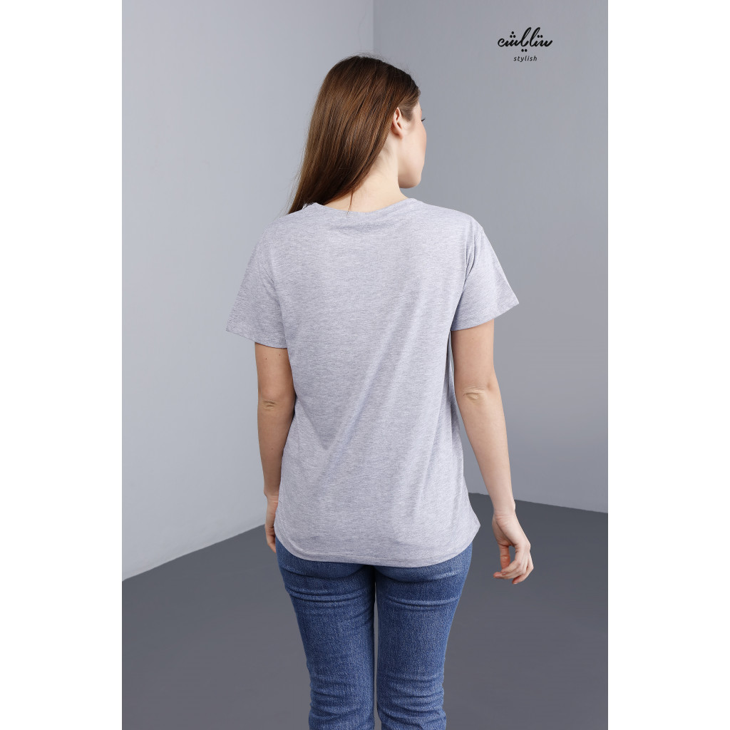 Cute printed Gray T-shirt