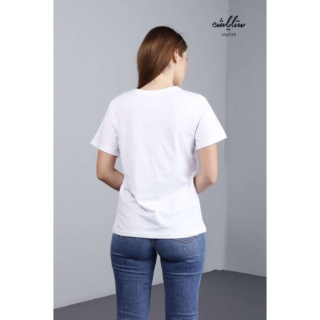 Letter & Graphic Round Neck Tee Of A Funny Look