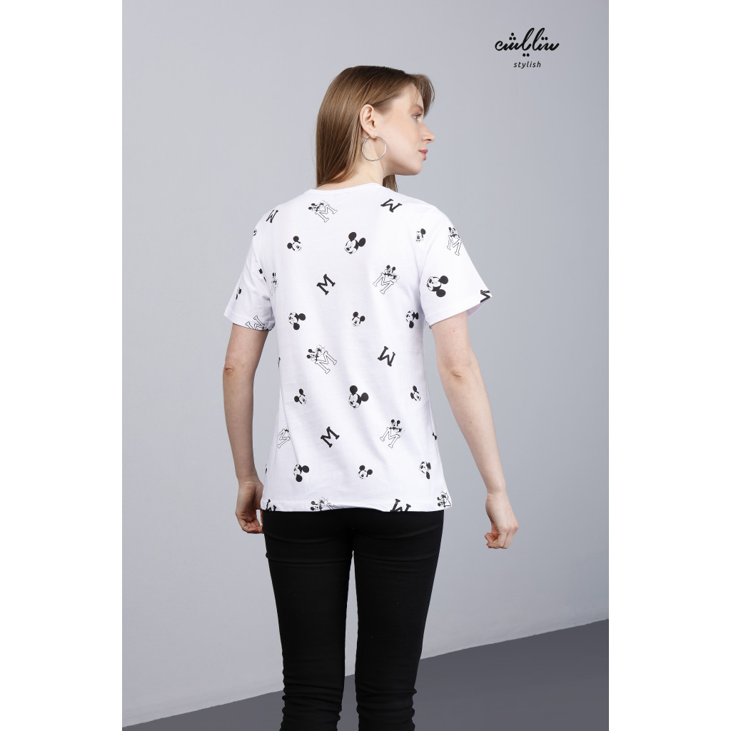 White Soft Mickey Mouse T-Shirt.