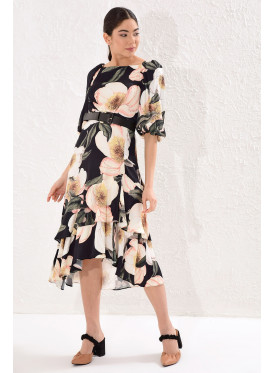 Non Asymmetric Hem Dress with special sleeves