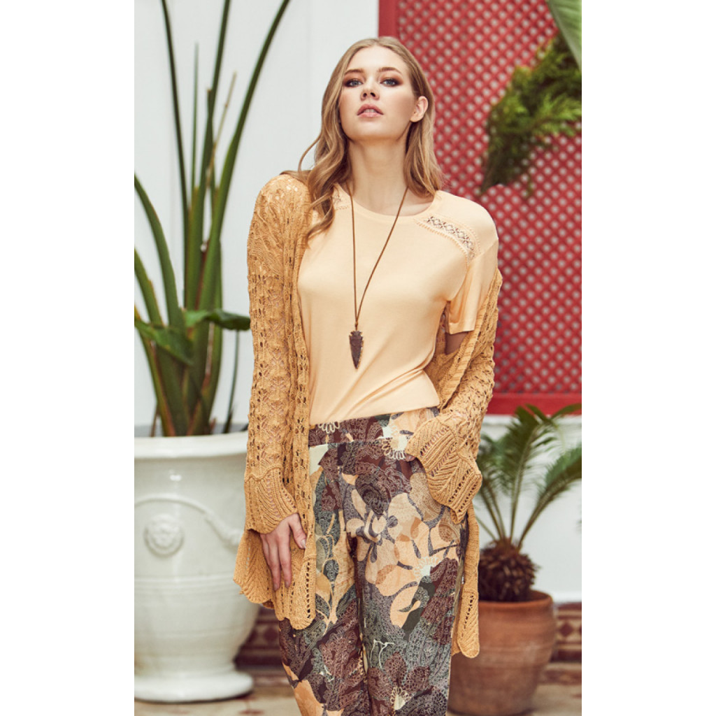 3pcs  home set of printed pants ,   inner top and  robe of knitwear