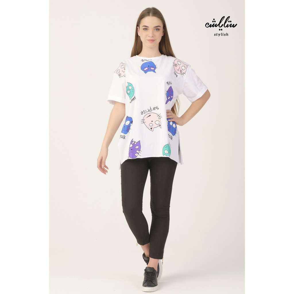 White T-shirt with cute prints