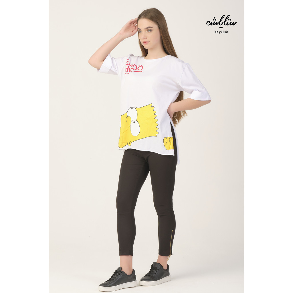 White T-shirt with the character of Simpsons