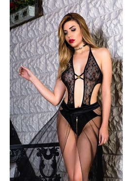 Floral Lace Teddy and  extra tull part for sexy look