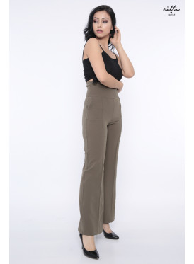 High West earthy pants, wide from below with an innovative and soft design