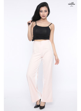 Spacious  pants pink in a wide line crisp all soft