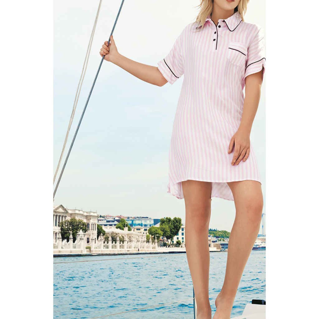 All feminine, soft and cool, with a pink striped design for a comfortable feel