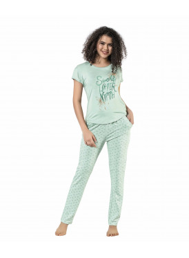 Silky soft pajama and thin print pants for a comfortable feel and great view