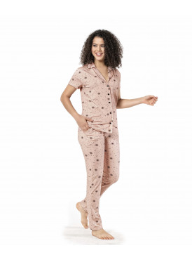 Baby-Bink pajamas set with buttons adds a touch of elegance and comfort
