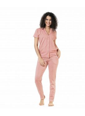 Elegant, button-colored set with a cool pink color for a comfortable feel
