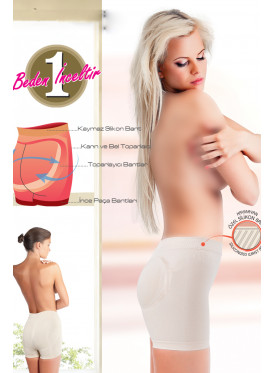 Corset to coordinate buttocks with silicone strap on the waist anti-slip