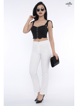 Sleek black top with an innovative storyline that increases its softness