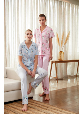 Pajama is all soft in pink with cute crisp prints