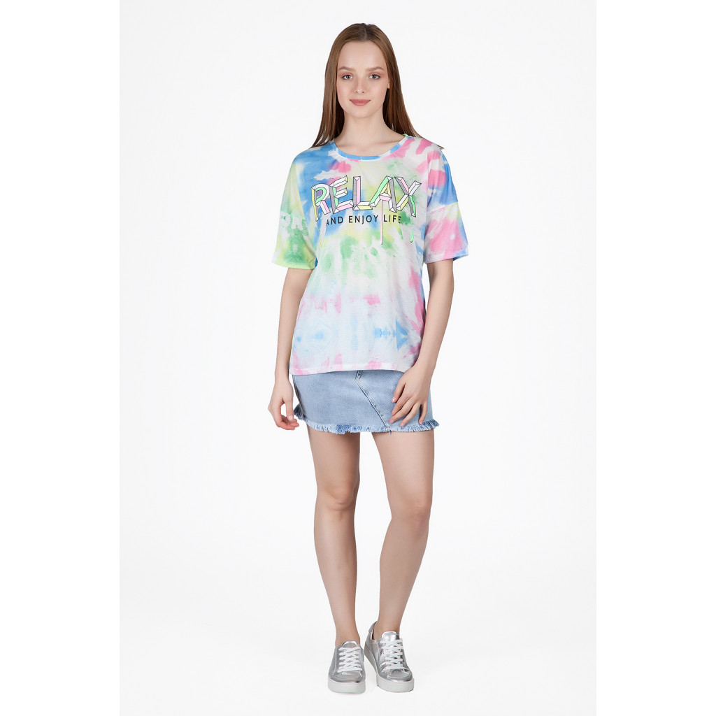 High Collar soft T-shirts with harmonious summer colors
