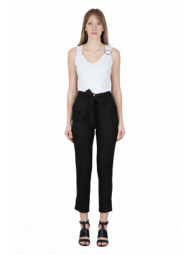 High West Midi black pants and a soft waisttie