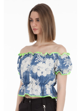Elegant blouse with a view of the most beautiful view