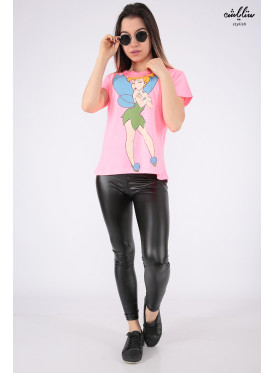 Soft pink T-shirt with fairy character print