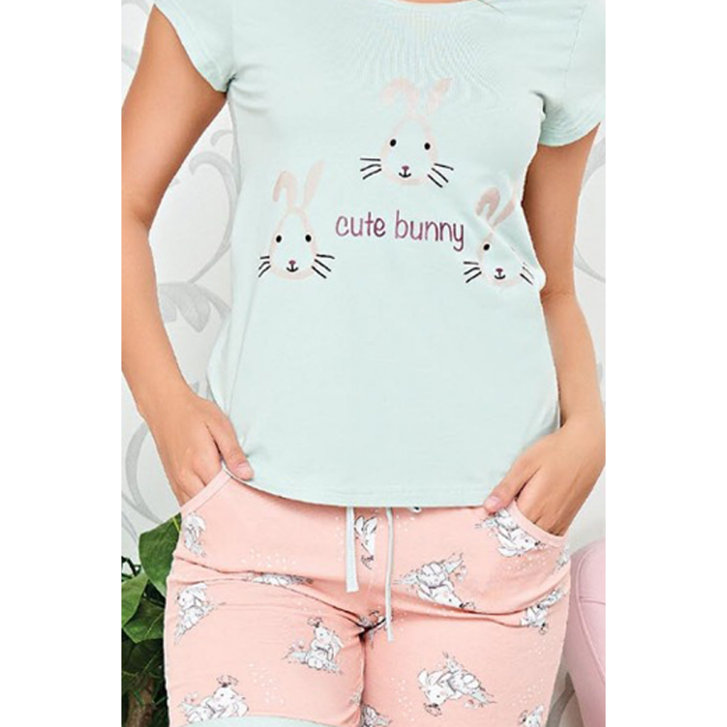 Shorts cute pink in thin crisp attractive prints