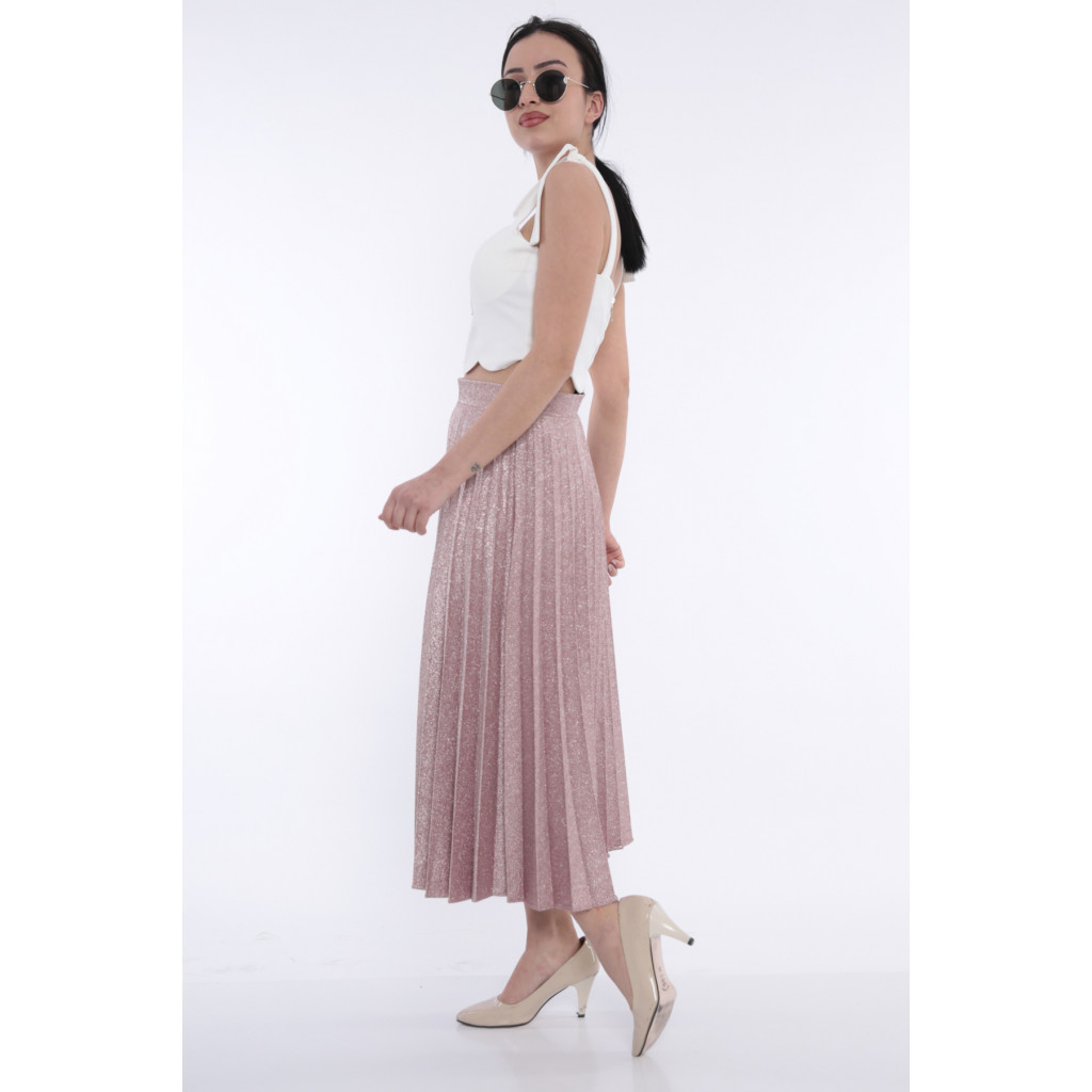 Pelissé chic skirt with bright pink crumbs