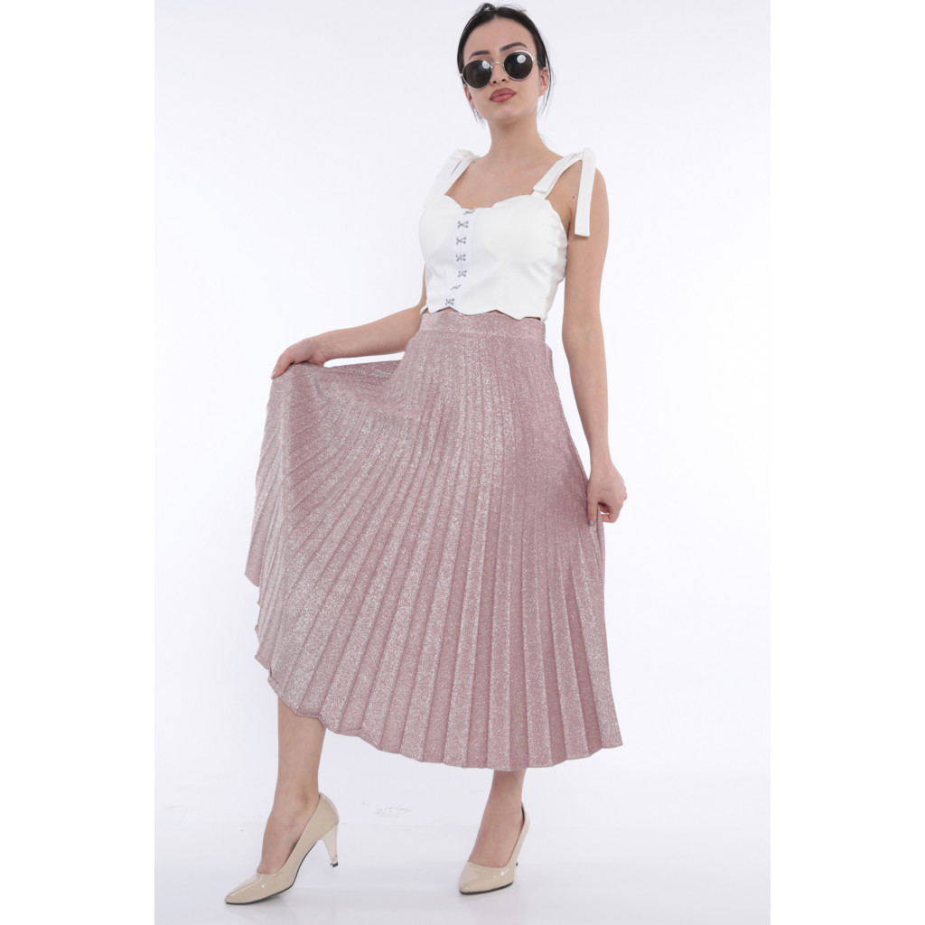 (Pelissé chic skirt with bright pink crumbs (Rubber