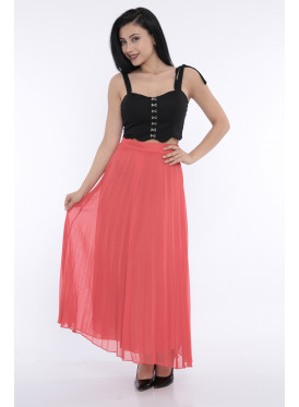 Long Belsey red crisp stylish and attractive skirt