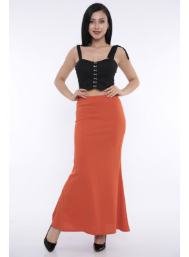 (Elegant Slim maxi skirt with a beautiful story that gives an attractive look (Rubber