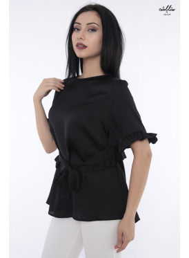 Elegant black blouse decorated with a beautiful view