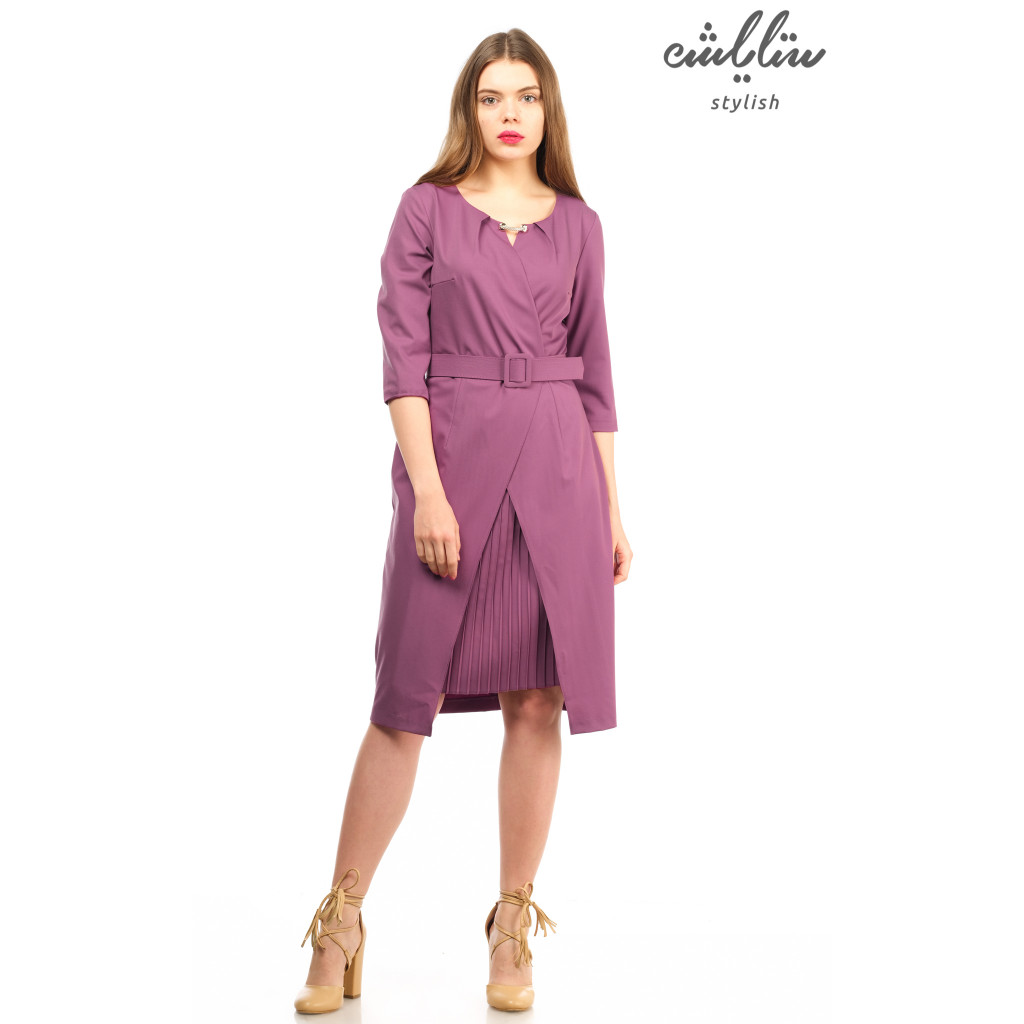 The enchanting dress in this purple-colored gown with an innovative  and feminine touch